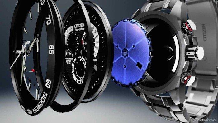 El Citizen Eco-Drive pertenece a una serie de relojes que usan fuentes de energía renovables para cargar las baterías.