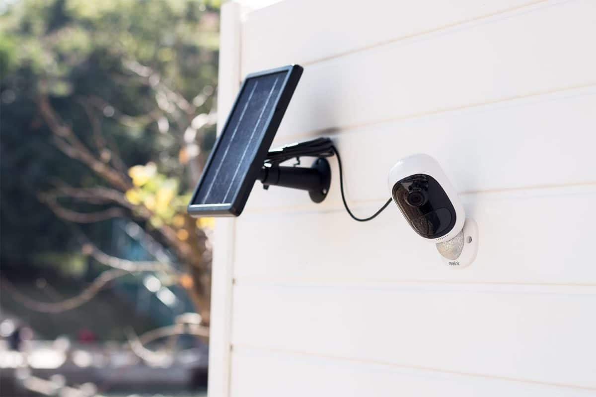 Cámara de seguridad exterior, inalámbrica y solar