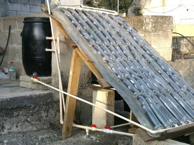 10 propuestas de calentadores solares caseros. Black Bedroom Furniture Sets. Home Design Ideas
