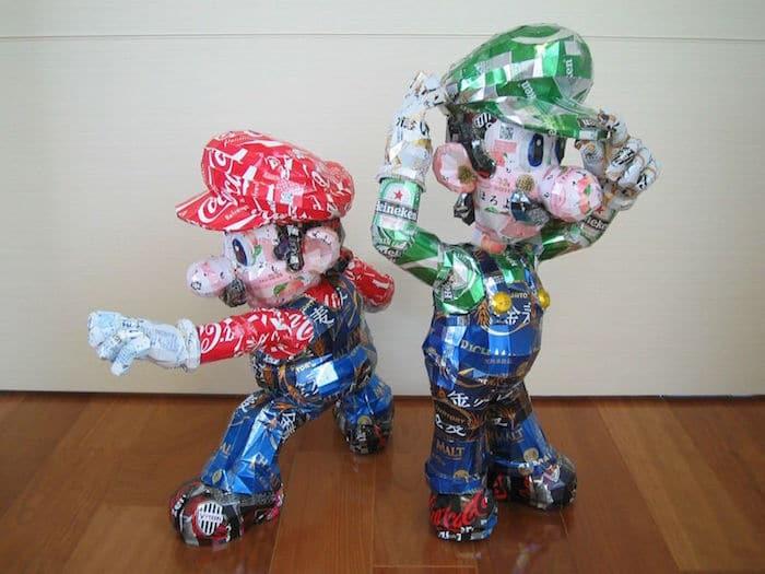 Arte con recipientes de cerveza2