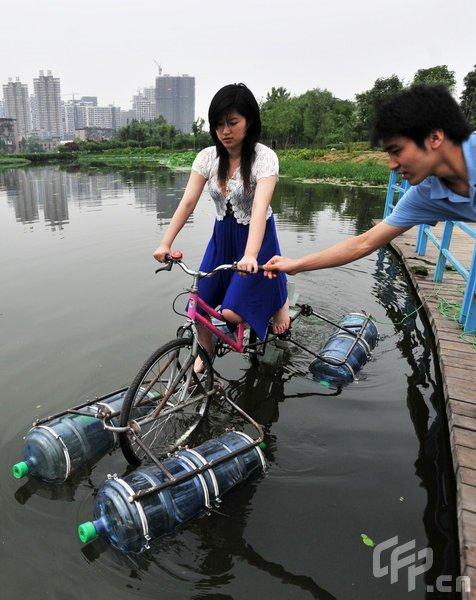 bicicleta anfibia casera1