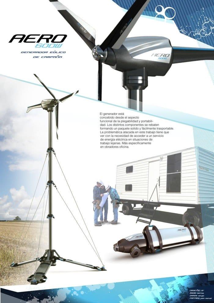 Aerogenerador portátil para zonas aisladas