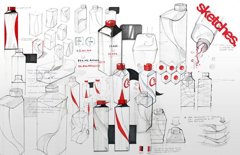 Prototipo de botella ecológica de Coca Cola