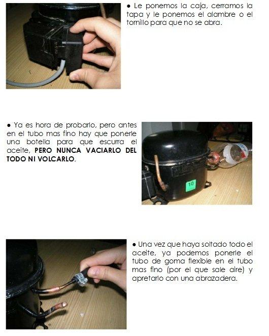 Construcción de compresor casero instrucciones 6