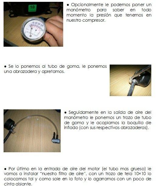 Construcción de compresor casero instrucciones 7