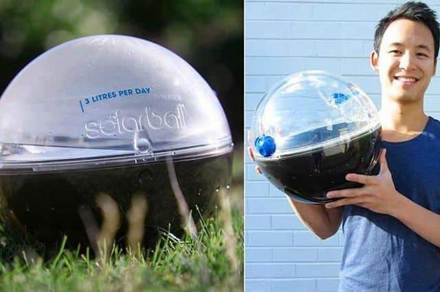 Solarball potabiliza 3 litros de agua usando solo la energía del sol