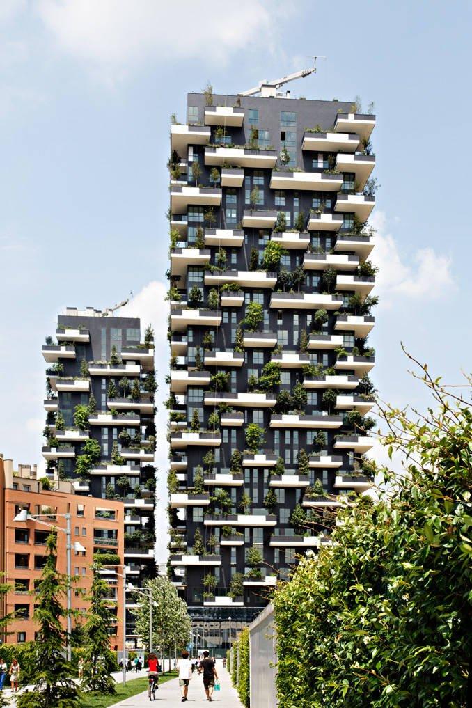 Bosque vertical en edificio residencial