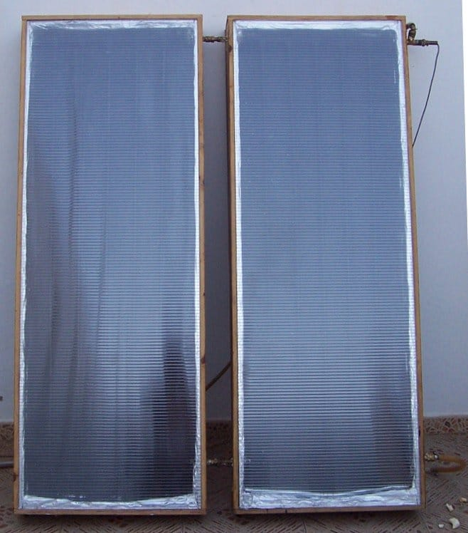 calentador solar casero