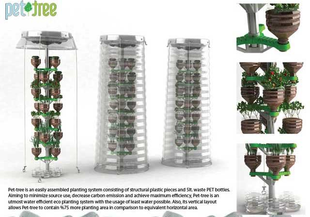 Pet tree sistema de cultivo vertical for Plantaciones verticales