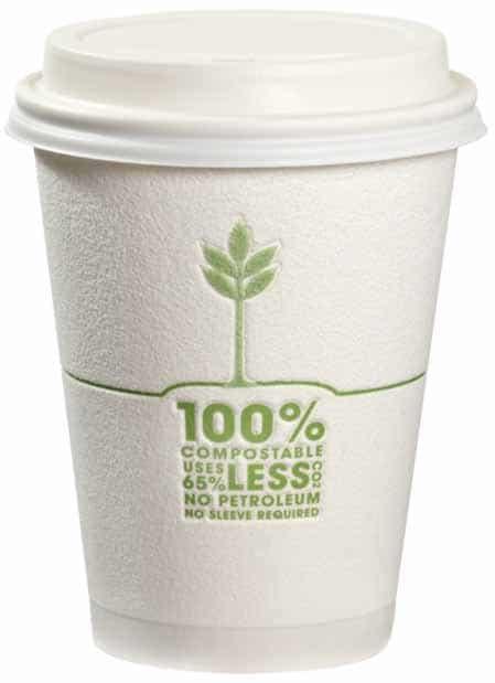 Tazas de café 100% compostables