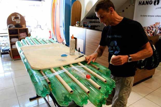 Projeto Prancha Ecologica. Tablas de surf con botellas PET