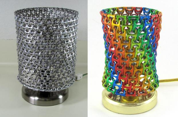 Haz tu propia l mpara con anillas de latas - Decoracion hecha en casa ...