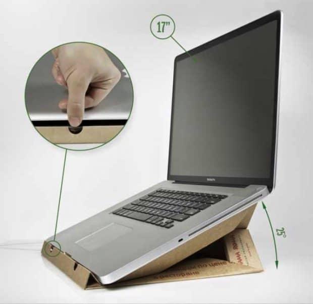 Cómo hacer un soporte para portátil con una caja de cartón
