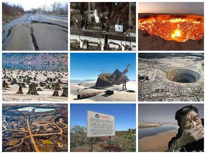 Lugares destruidos por el hombre