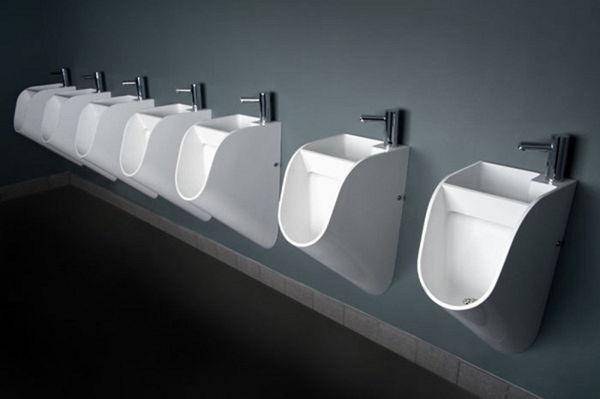 urinarios con lavabos incorporados