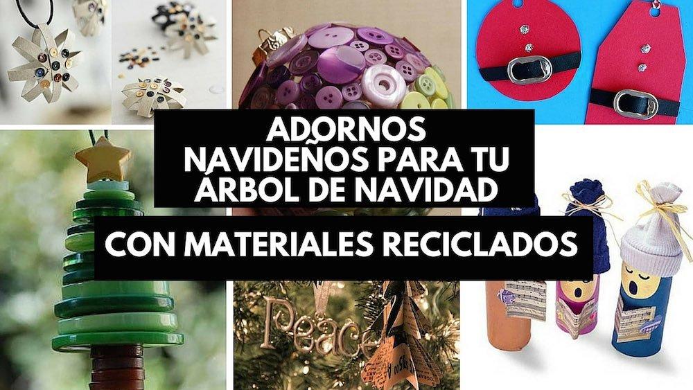 20 adornos navide os reciclados para tu rbol de navidad - Arbol de navidad de pared ...