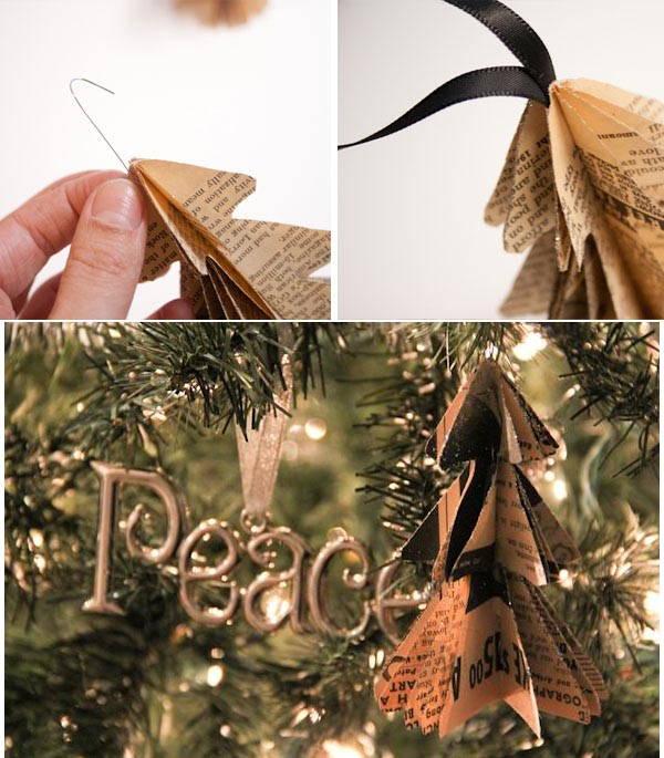 Mini Arboles de navidad con papel