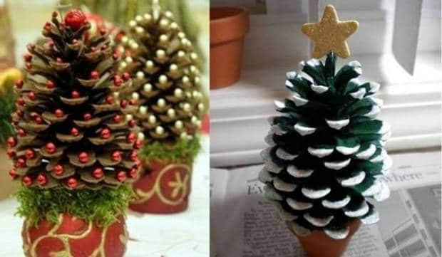 Imagenes De Adornos Navidenos Hechos Con Pinas.20 Adornos Navidenos Reciclados Para Tu Arbol De Navidad