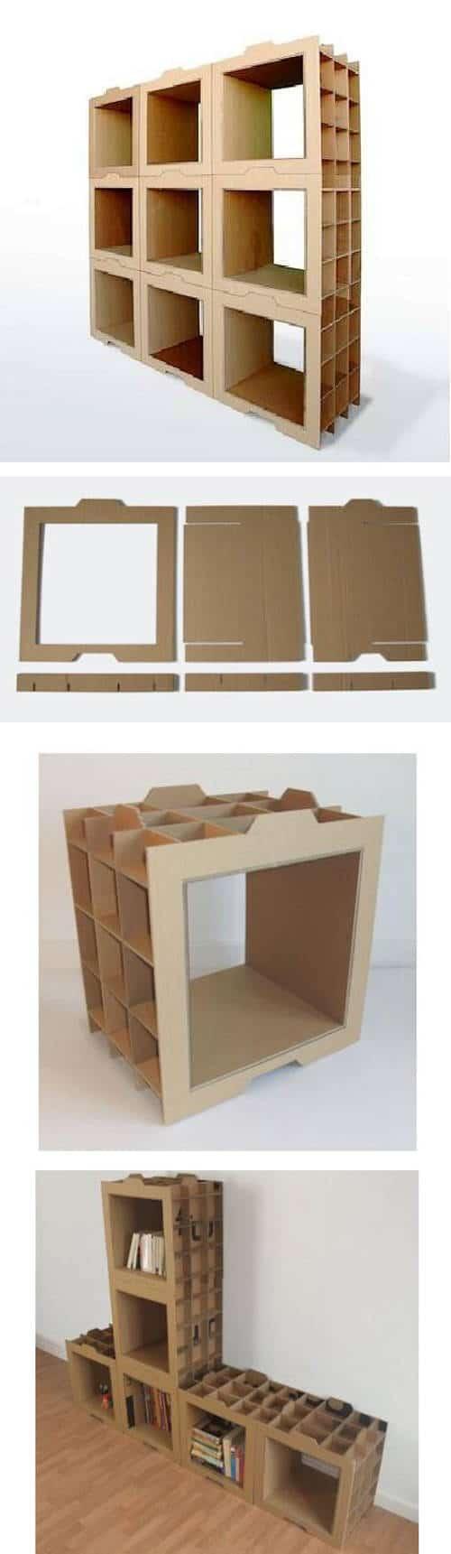 Muebles modulares de cartón