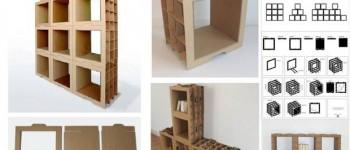 Muebles modulares de cartón, hazlo tu mismo
