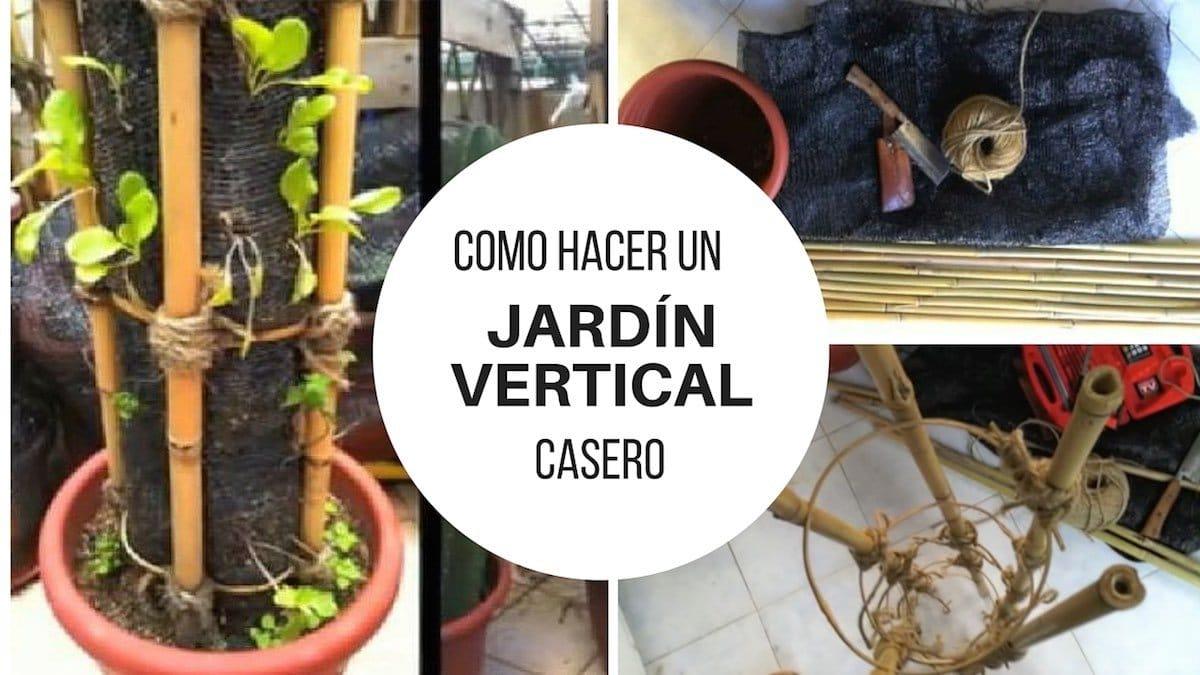 Cómo hacer un jardín vertical casero paso a paso