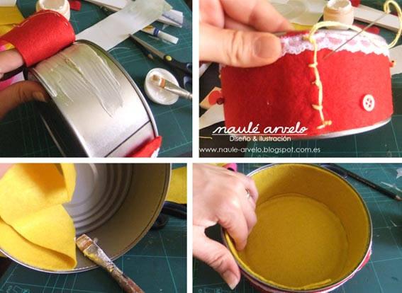 reciclar latas de atun 2