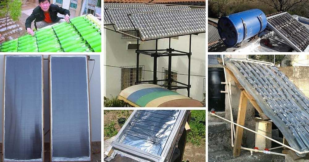 8 propuestas de calentadores solares caseros for Calentador solar piscina casero