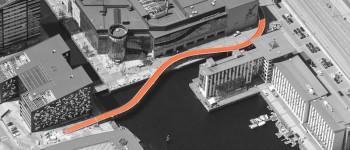 Un puente hace el ciclismo urbano aún más seguro en Copenhague