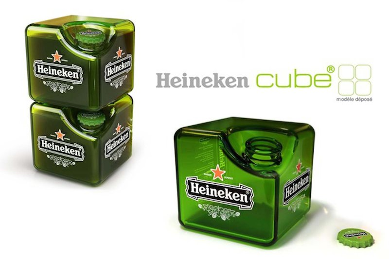 Heineken cubo cerveza