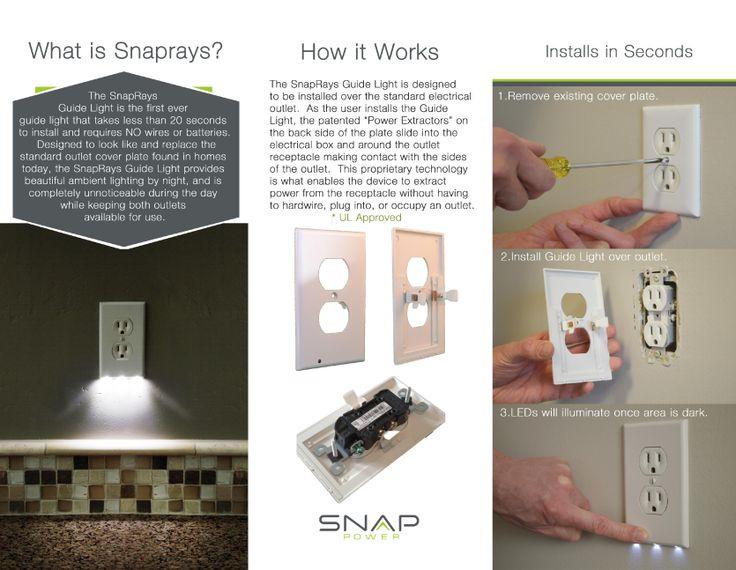 Luz guía SnapRays instalacion