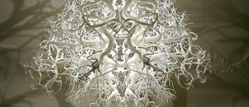 Increíble lámpara transforma cualquier habitación en un bosque
