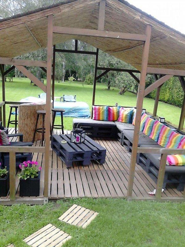 Palet terraza - Terraza con palets ...