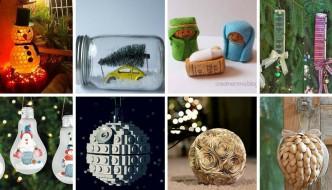 22 adornos navideños reciclando o reusando desechos