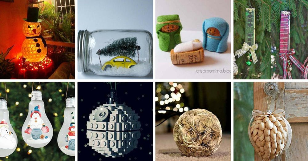 22 adornos navide os reciclando o reusando desechos - Decoraciones navidenas faciles ...