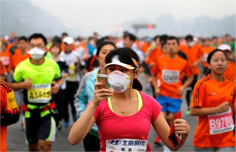 contaminacion maraton de pekin