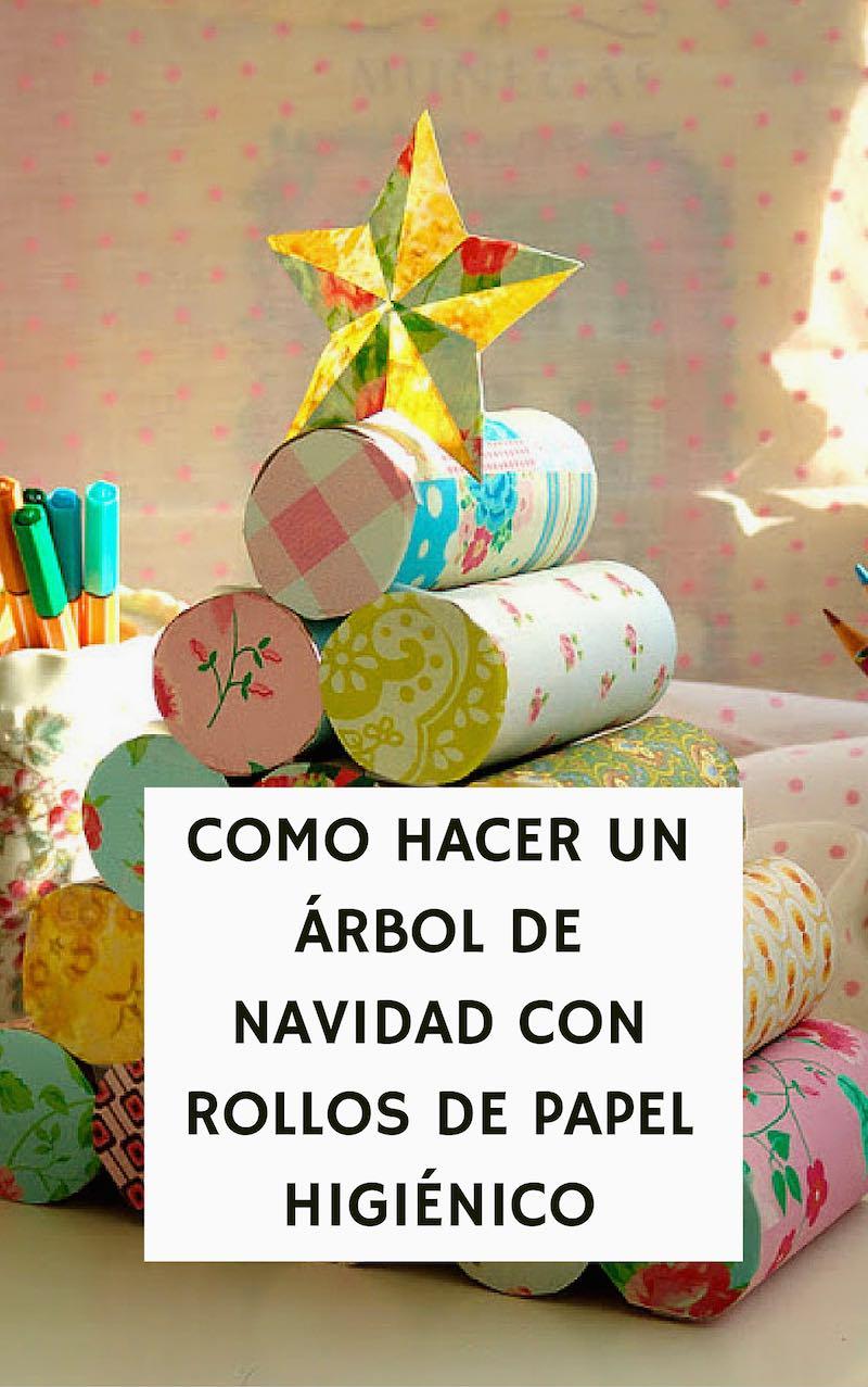 C mo hacer un rbol de navidad con rollos de papel higi nico - Manualidades con rollos de papel higienico para navidad ...