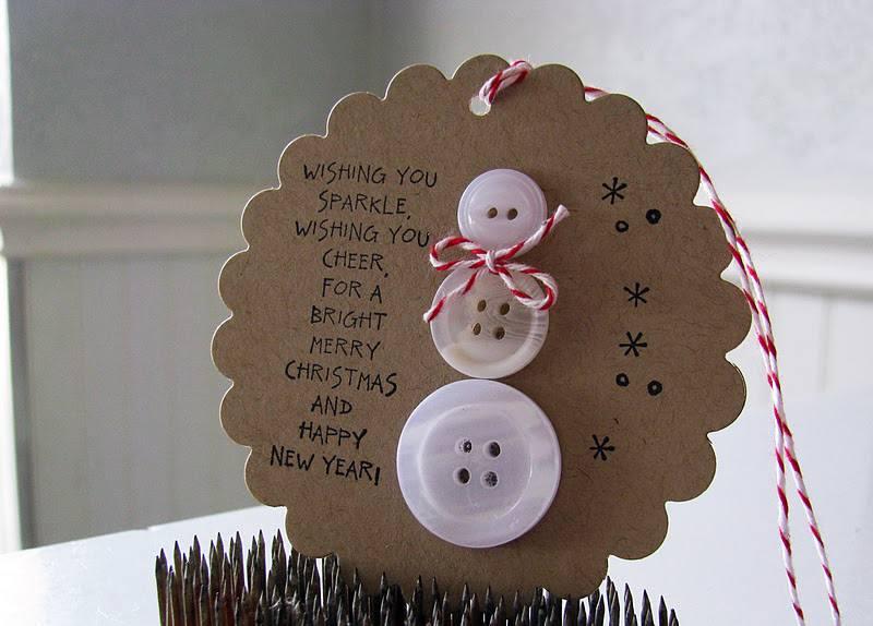 Muñeco de nieve con botones