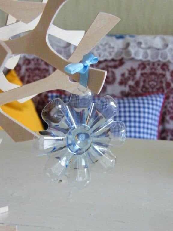 copo de nieve con botella PET6