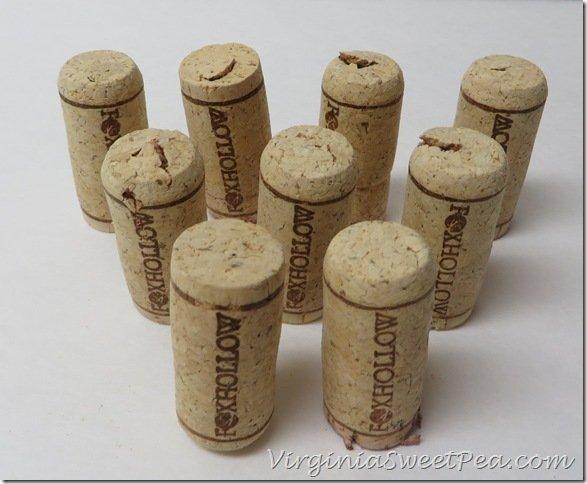 Copo de nieve con corchos de vino