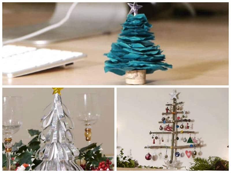 Como hacer un rbol de navidad casero - Como hacer un arbol de navidad de carton ...