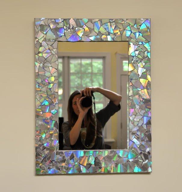 Espejo de pared con CDs