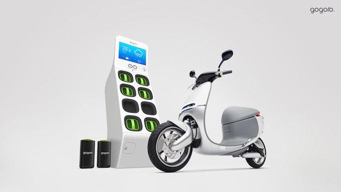 Gogoro Scooter eléctrico recarga
