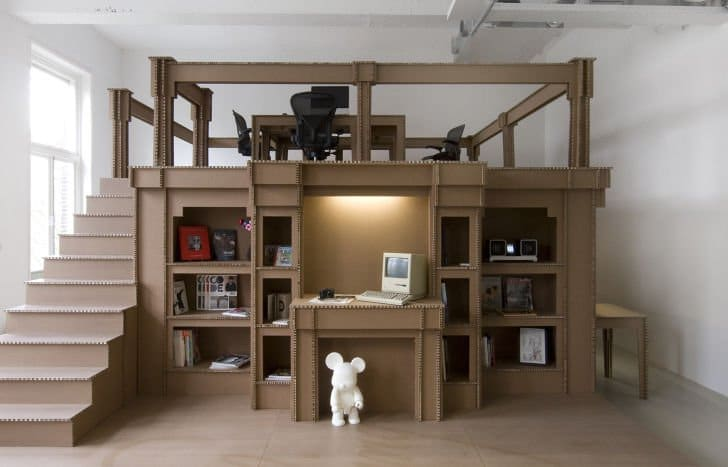 Oficina en Amsterdam hecha completamente de cartón