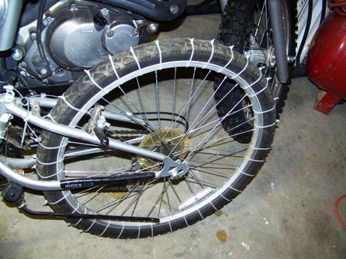 neumáticos de nieve para bicicletas detalle