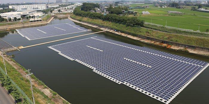 Hydrelio, sistema de granjas solares flotantes