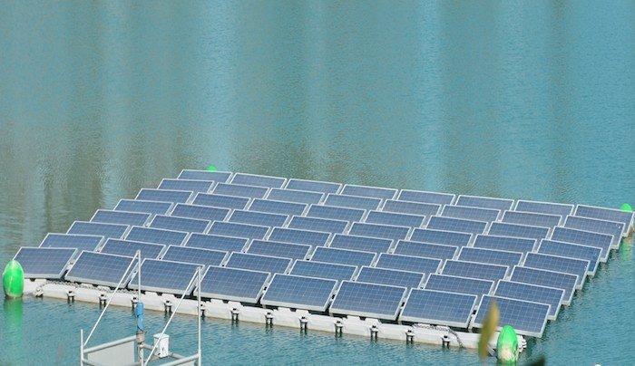 Hydrelio, sistema de granjas solares fotovoltaicas flotantes