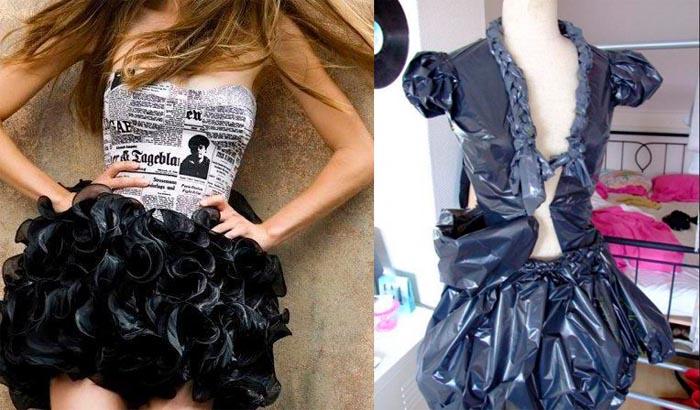 Ideas para disfraces para carnaval reciclando bolsas plásticas