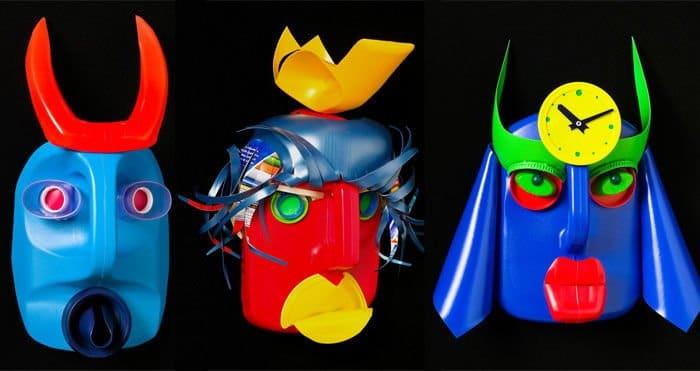 Mascaras con botellas de plastico
