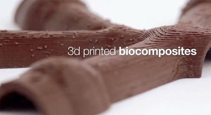 Tecnología 3D mediante biomateriales desarrollados a base de madera