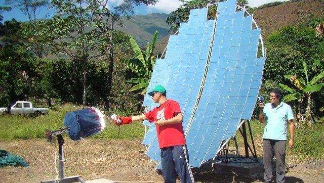 Tostador solar cafe en Peru